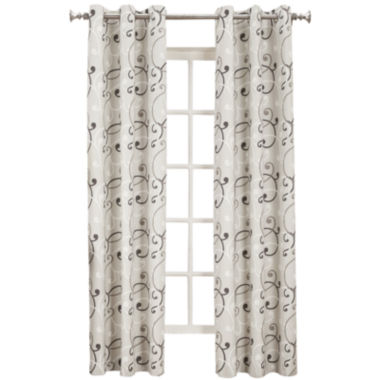 jcpenney.com | Sun Zero™ Easton Thermal Lined Grommet-Top Curtain Panel