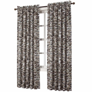 jcpenney.com | Sun Zero™ Emory Printed Texture Room-Darkening Rod-Pocket Curtain Panel