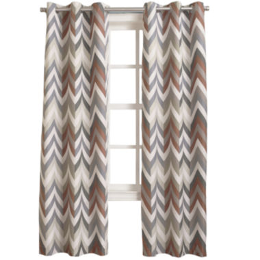 jcpenney.com | Sun Zero™ Cairo Thermal Lined Grommet-Top Curtain Panel