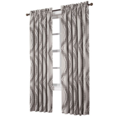 jcpenney.com | Sun Zero™ Emory Printed Wave Room-Darkening Rod-Pocket Curtain Panel
