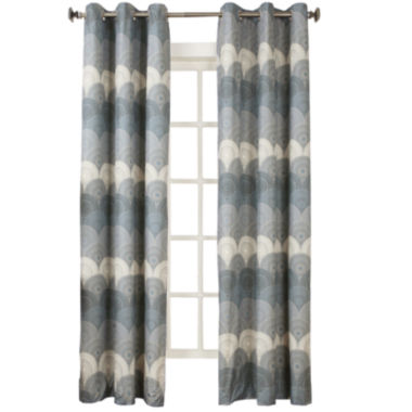 jcpenney.com | Sun Zero™ Veda Thermal Lined Grommet-Top Curtain Panel