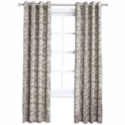 No. 918 Doris Crushed Microfiber Grommet-Top Curtain Panel