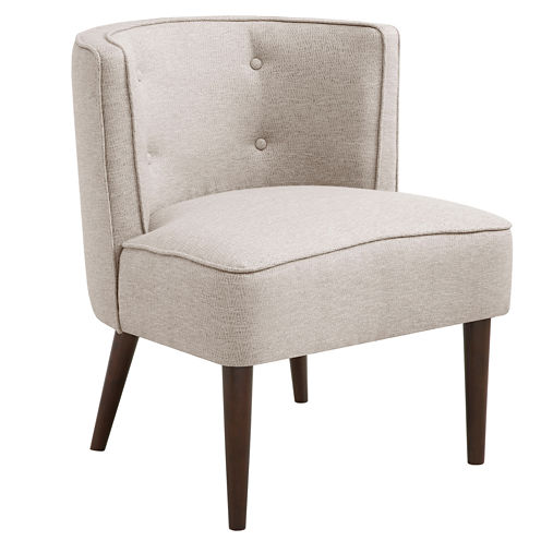 Madison Park Brittany Button-Tufted Curved-Back Chair