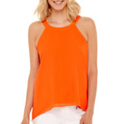 Bisou Bisou® Sleeveless Sharkbite Banded Top