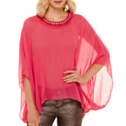 Bisou Bisou® Embellished Kaftan Top