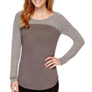 Xersion™ Studio Long-Sleeve Baseball T-Shirt