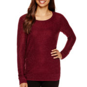 i jeans by Buffalo Long-Sleeve Shimmer Sweater