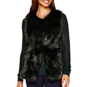 i jeans by Buffalo Sleeveless Faux-Leather and Faux-Fur Vest