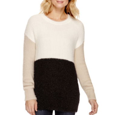jcpenney.com | a.n.a® Long-Sleeve Colorblock Sweater