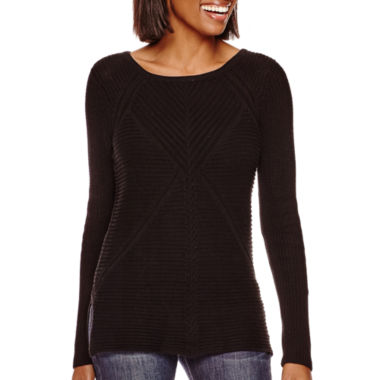 jcpenney.com | a.n.a® Long-Sleeve High-Low Sweater