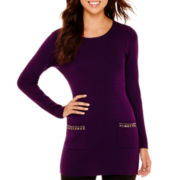 Alyx® Ribbed Tunic Top with Studs