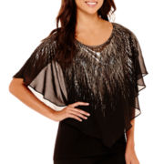 Alyx® Short-Sleeve Metallic Popover Top
