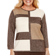 Alfred Dunner® Sycamore Lane 3/4-Sleeve Colorblock Sweater - Plus
