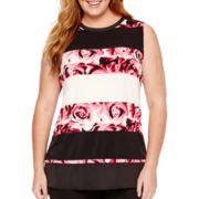 Worthington® Sleeveless Burnout Tunic Top - Plus