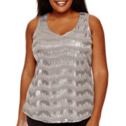 Worthington® Sequin Tank Top - Plus