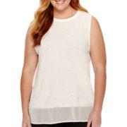 Worthington® Sleeveless Embellished Tunic Top - Plus