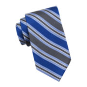 Stafford® Alexander Stripe Silk Tie - Extra Long