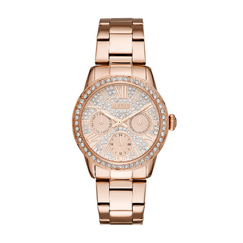Relic Womens Rose Goldtone Bracelet Watch-Zr15874