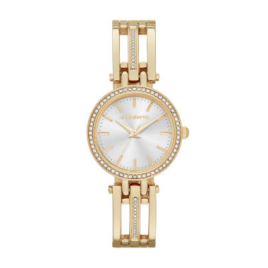 jcpenney.com | Liz Claiborne® Womens Gold-Tone Bangle Bracelet Watch