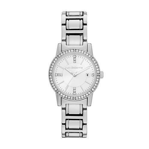 Liz Claiborne® Silver-Tone Bracelet Watch