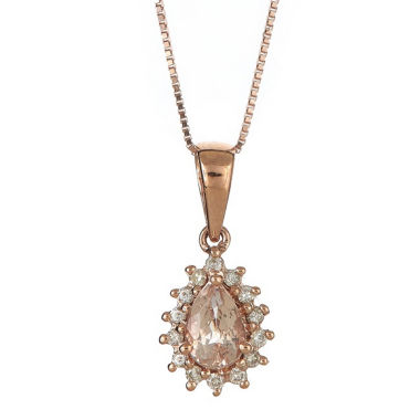 jcpenney.com | Womens 1/10 CT. T.W. Pink Morganite 14K Gold Pendant Necklace