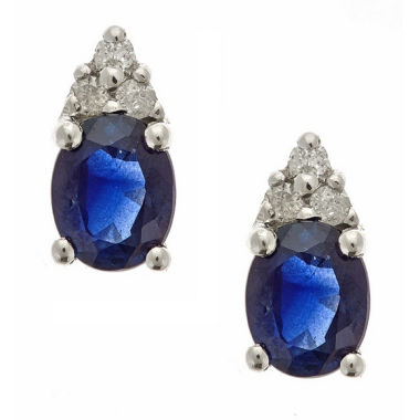 jcpenney.com | LIMITED QUANTITIES! Diamond Accent Oval Blue Sapphire 10K Gold Stud Earrings