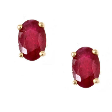 jcpenney.com | LIMITED QUANTITIES! Oval Red Ruby 10K Gold Stud Earrings