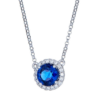 jcpenney.com | 1/7 CT. T.W. Blue Tanzanite 14K Gold Pendant Necklace