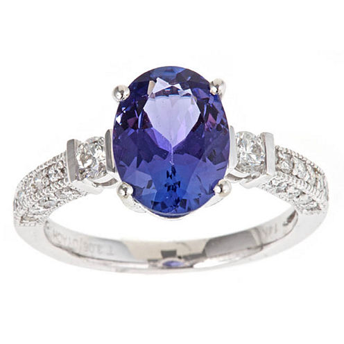 LIMITED QUANTITIES! Blue Tanzanite 10K Gold Cocktail Ring