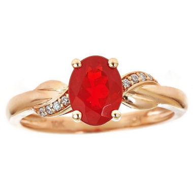 jcpenney.com | LIMITED QUANTITIES! Diamond Accent Orange Opal 10K Gold Cocktail Ring