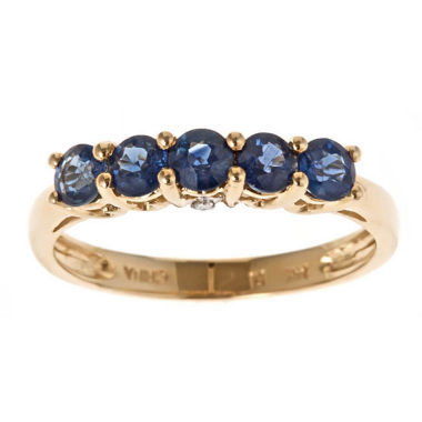 jcpenney.com | Womens Diamond Accent Blue Sapphire 14K Gold Band