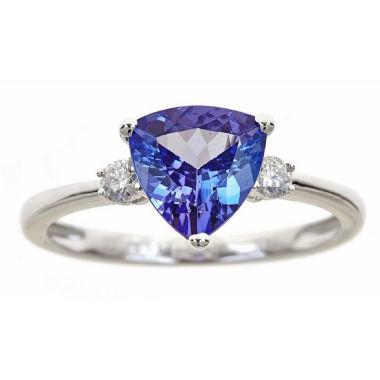 jcpenney.com | Womens 1/8 CT. T.W. Blue Tanzanite 14K Gold Cocktail Ring
