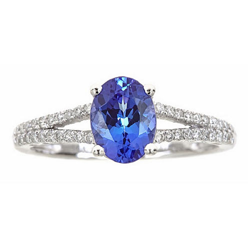 LIMITED QUANTITIES! 1/5 CT. T.W. Blue Tanzanite 14K Gold Cocktail Ring