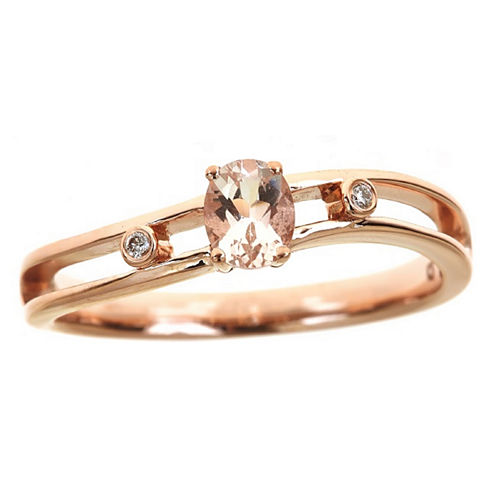 LIMITED QUANTITIES! Diamond Accent Pink 14K Gold Promise Ring