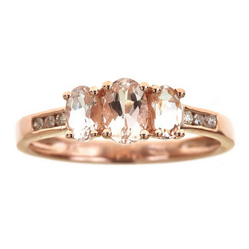 LIMITED QUANTITIES! 1/10 CT. T.W. Pink Morganite 14K Gold Cocktail Ring