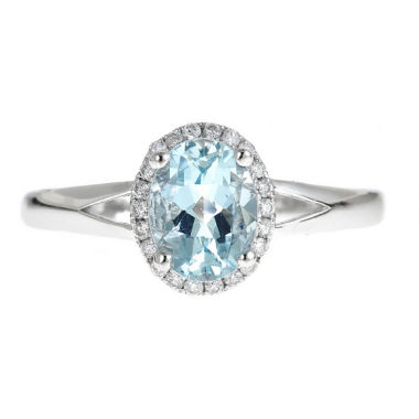 jcpenney.com | LIMITED QUANTITIES! 1/8 CT. T.W. Blue Aquamarine 14K Gold Cocktail Ring