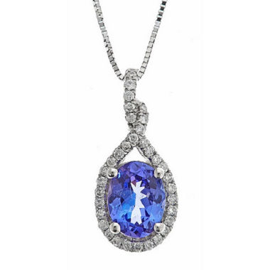 jcpenney.com | Womens 1/5 CT. T.W. Blue Tanzanite 14K Gold Pendant Necklace