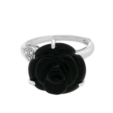 jcpenney.com | Womens Diamond Accent Black Onyx Sterling Silver Cocktail Ring