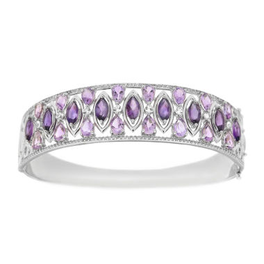 jcpenney.com | Womens Purple Amethyst Sterling Silver Bangle Bracelet