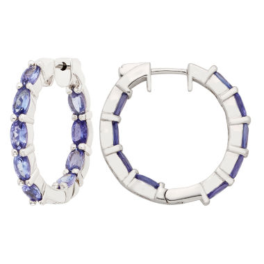 jcpenney.com | Blue Tanzanite Sterling Silver Hoop Earrings