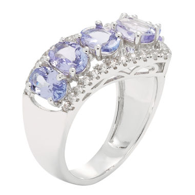 jcpenney.com | Womens Purple Tanzanite Sterling Silver Side Stone Ring