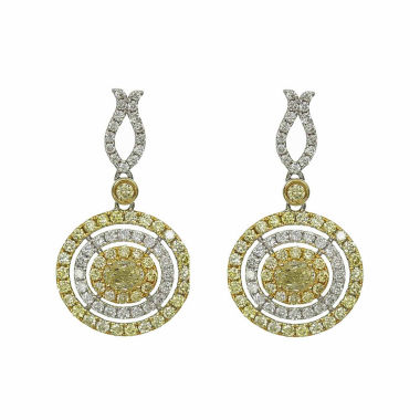 jcpenney.com | 1 1/2 CT. T.W. Yellow Diamond 14K Gold Drop Earrings