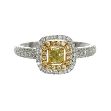 jcpenney.com | Womens 3/4 CT. T.W. Princess Yellow Diamond 18K Gold Engagement Ring