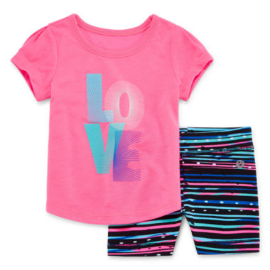 jcpenney.com | Xersion Girls 2-pc. Short Sleeve Short Set