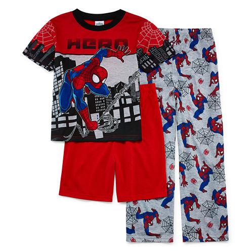 Spiderman 3-pc. Pajama Set- Boys 4-12