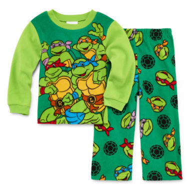 jcpenney.com | Boys Long Sleeve Teenage Mutant Ninja Turtles Kids Pajama Set-Toddler