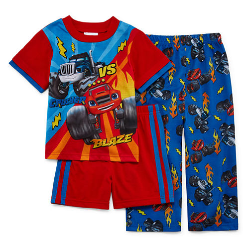 Blaze and the Monster Machines 3-pc. Pajama Set- Toddler Boys