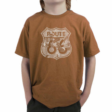 jcpenney.com | Los Angeles Pop Art Attractions And Stops Along Route 66 Graphic T-Shirt-Big Kid Boys