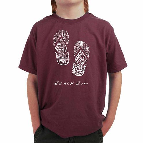 Los Angeles Pop Art Beach Bum Graphic T-Shirt-Big Kid Boys