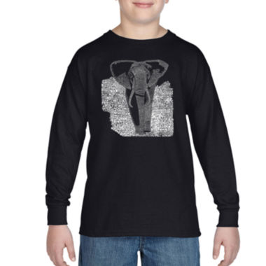 jcpenney.com | Los Angeles Pop Art List Of Popular Endangered Species Graphic T-Shirt-Big Kid Boys
